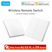 Xiaomi Aqara ZiGBee Smart Switch مع جهاز تحكم عن بعد ، مفتاح حائط لاسلكي مع Wifi D1 ، يعمل مع Gateway 3 Hub homekit Mi Home