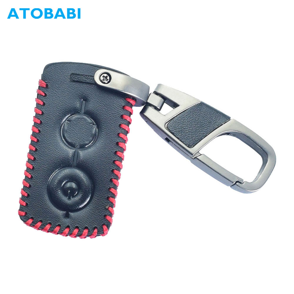 Leather Car Key Case Keychain For YAMAHA NVX 125 155 NMAX XMAX 125 250 300 400 Aerox 155 QBIX Motorcycle Smart Remote Fobs Cover