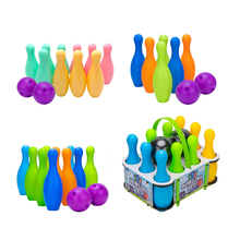 Plastic Bowling Balls Playset for Kids School-age Child Boys&Girls Toy Games