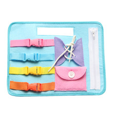 Kids Busy Board Buckle Toy Zip Button Lace Up Color Montessori Early Education Dress Teaching Aids Preschool Toys for Children flyingtown montessori teaching aids balance scale baby balance game early education wooden puzzle children toys