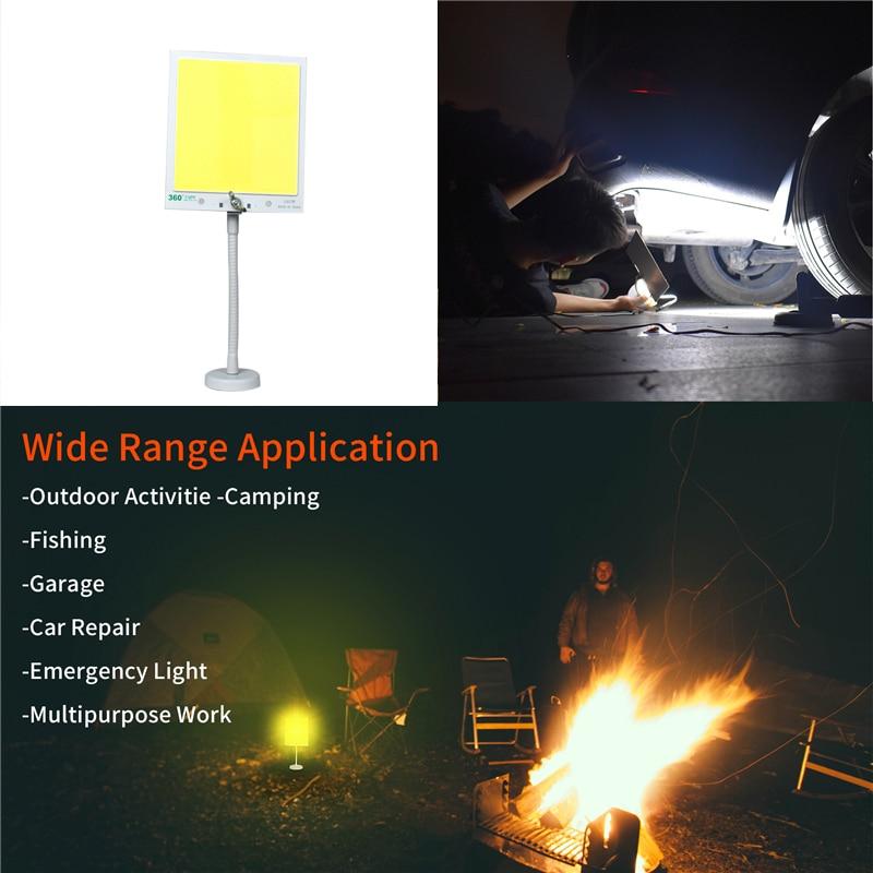 50W IP65 12V LED esterno portatile ha condotto la luce della Tenda di campeggio ricaricabile esterna Strada da viaggio Auto-ha fornito di illuminazione base magnetica