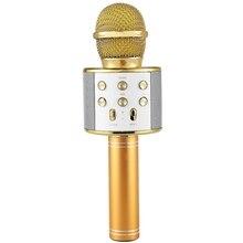 ワイヤレスカラオケマイクポータブルbluetoothミニホームktv音楽演奏と歌スピーカープレーヤーselfie電話pcゴールド