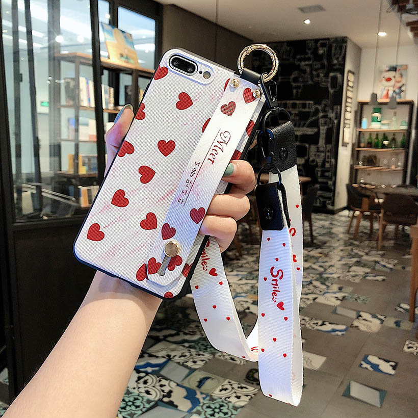H3a7d1d1ce6f046b282eedefec6afa8d0K Wrist Strap Phone Case for iPhone XS Max X XR Cover iPhone 7 8 Plus 6 6S 11 Pro Max Case Luxury Neck Lanyard iphone 6s case