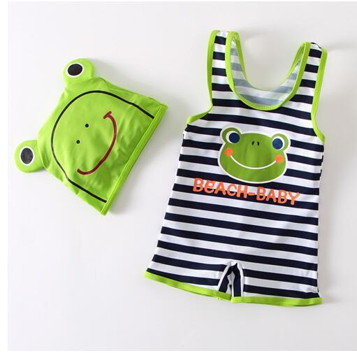 KID'S Swimwear BOY'S One-piece Frog Swimwear Hot Springs Bathing Suit CHILDREN'S Swimsuit Manufacturers Wholesale