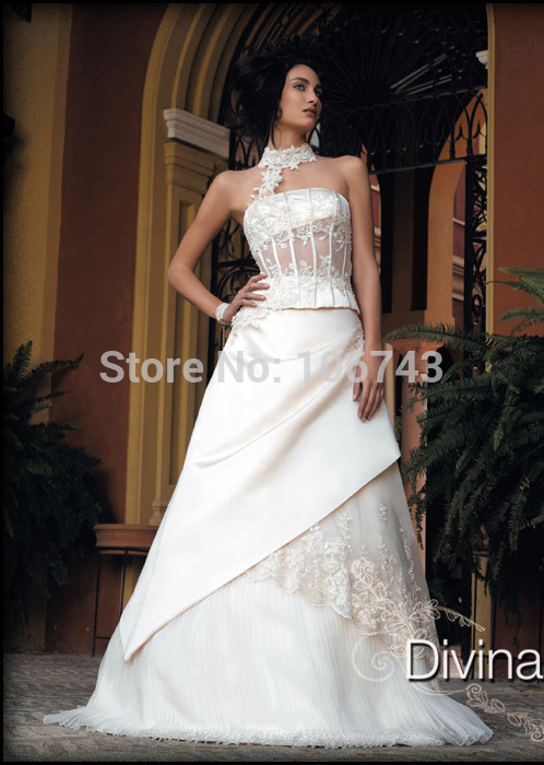 Ball Gown Free Shipping 2018 New Fashion Sexy Casamento Design Vestido De Noiva Highneck Bridal Gown Mother Of The Bride Dresses