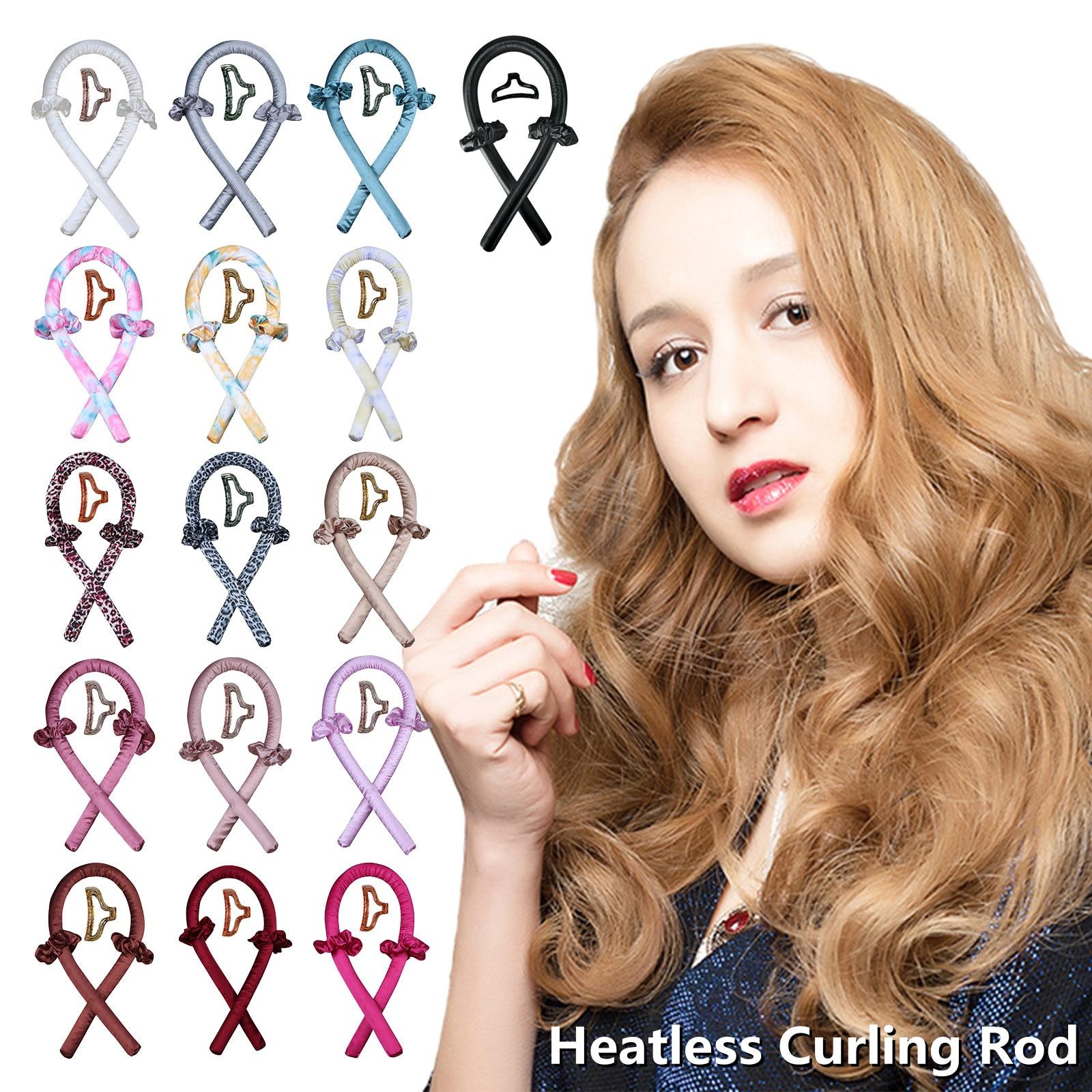 Щипцы для завивки волос без тепла, повязка на голову для создания мягких и блестящих волос, бигуди, парикмахерские инструменты, кудри для во...