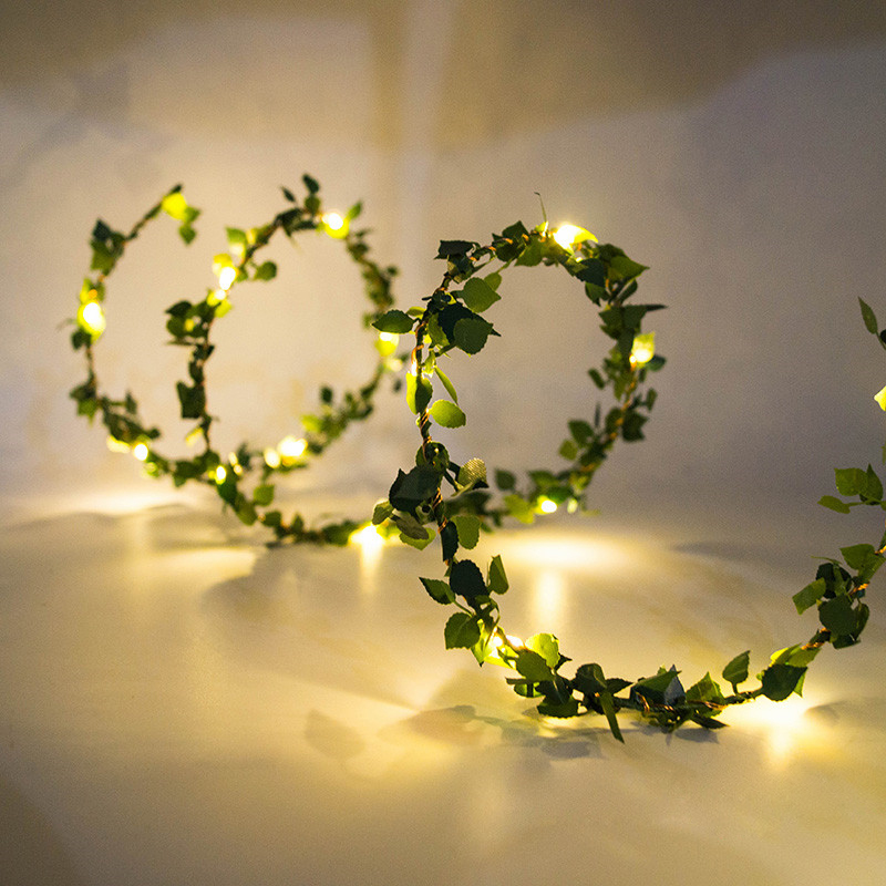 String Lights Plug In Led Ball String Lights Twine Beaded Lights String Plug USB Outdoor Party Decoration Fairy Lights Floral