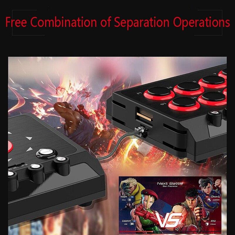 Contrôleur de jeu de bâton de combat de Station d'arcade de Joystick de combat câblé par USB de DC5V avec la Macro de Turbo pour le commutateur PS4/PS3/NS/Android/PC - 4