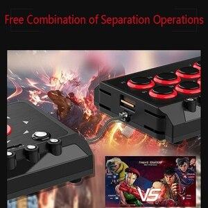 Image 4 - DC5V USB filaire manette de combat Arcade Station combat bâton contrôleur de jeu avec Turbo Macro pour PS4/PS3/NS commutateur/Android/PC