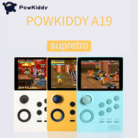 POWKIDDY A19 Pandora's Box Android supretro handheld game console IPS screen built in 3000+games 30 3D games WiFi download
