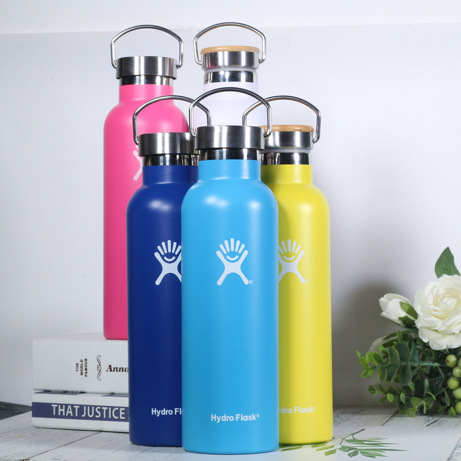 Stainless Steel Water Bottle Hydro Flask Water Bottle Vacuum Insulated Wide Mouth Travel Portable Thermal Bottle|Water Bottles|   - title=