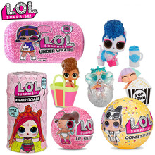 цена на Original LOL Surprise  Action  Toy Figures  5 generation 4   doll disassemble ball capsule toy  egg blind box Toy for children