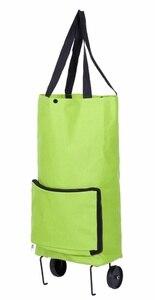 Складная хозяйственная сумка складная тележка для покупок Тележка для покупок многоразовая хозяйственная сумка Большая вместительная зел...