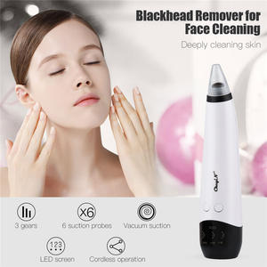 Extractor Head-Removal Microdermabrasion Black Acne Vacuum-Suction Electric Comedo Rechargeable45
