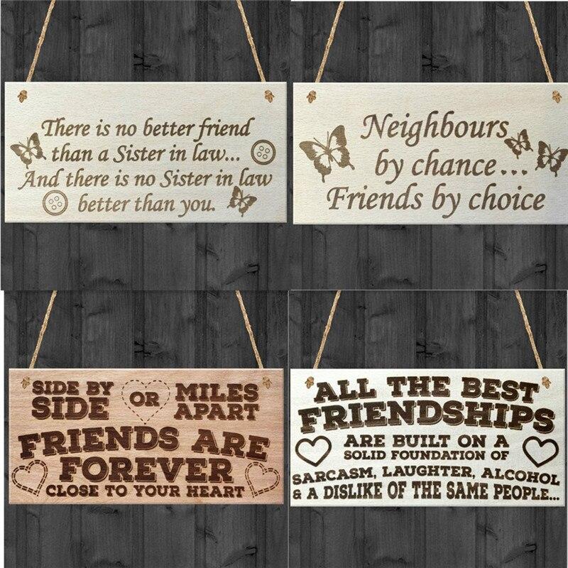 Деревянная вывеска, винтажная домашняя вывеска для декора, деревянная настенная табличка, прямоугольная деревянная табличка, Подарочная
