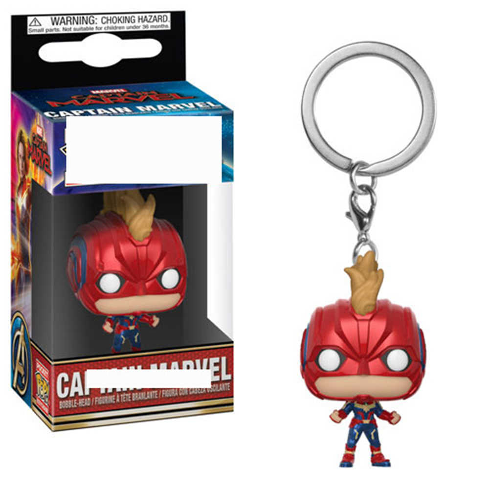 กัปตัน Marvel Funkos POPS Goose แมวจี้พวงกุญแจกล่อง Original Funkos Action Figure Keychain ของขวัญของเล่นสำหรับเด็ก