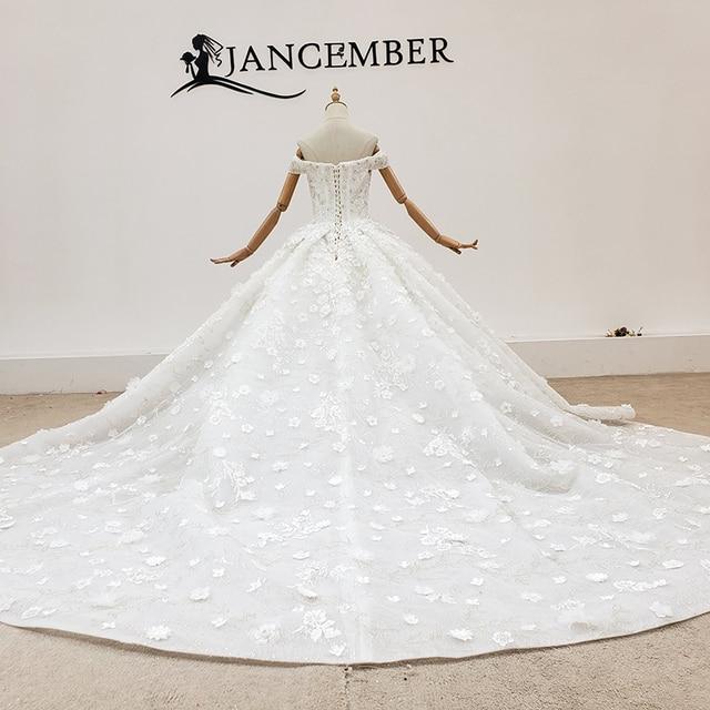 HTL1794 V-Neck Sequined Beading Wedding Dress 2020 Short Sleeve Applique Ball Gowns Off The Shoulder платье на свадьбу 2