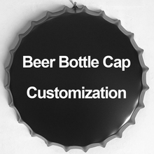 Beer Bottle Cap Customization Vintage Metal Tin Signs Cafe Bar Signboard Wall Decor Retro Plaque Nostalgia Metal Poster