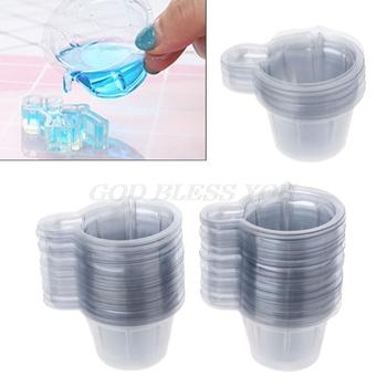 100 sztuk 40ML plastikowe kubki jednorazowe dozownik dla DIY biżuteria z żywicy epoksydowej Making Drop Shipping tanie i dobre opinie OOTDTY Z tworzywa sztucznego CN (pochodzenie)