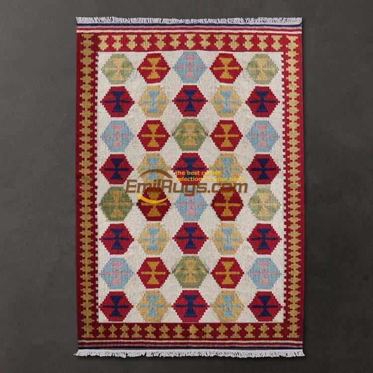 The Big Bang Style With Handmade Kilim Kilim Carpet / Living Room Carpet Design Style Ethnic Gc137-57