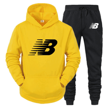 Agasalho masculino moda hoodies ternos masculinos marca nb define moletom + moletom outono inverno velo com capuz pulôver