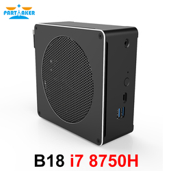 Partecipe B18 DDR4 Caffè Lago 8th Gen Mini PC Intel Core i7 8750 H 32 gb di RAM Intel UHD Grafica 630 Mini DP HDMI WiFi