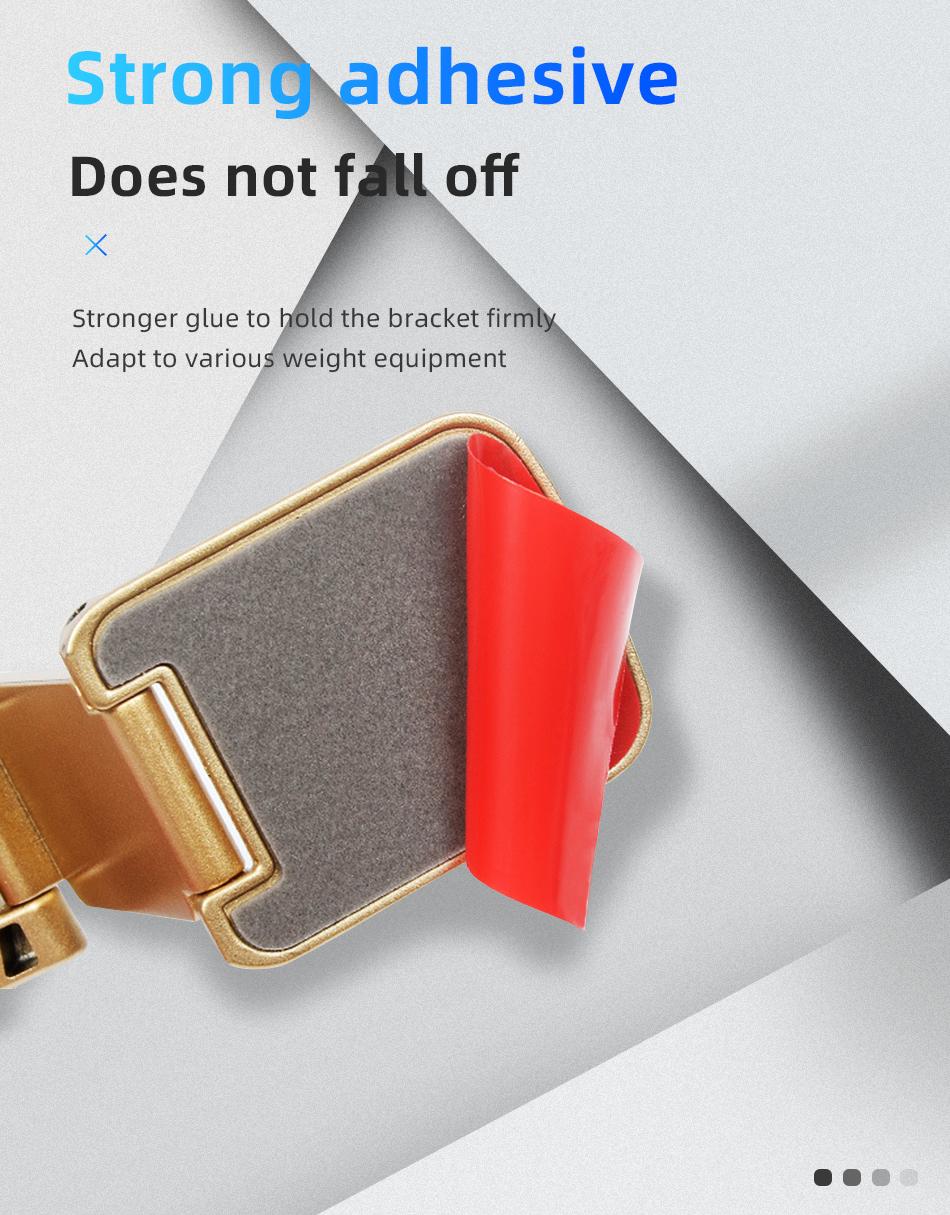 !ACCEZZ Car Magnetic Holder Phone Stand For 11 X Center Console Folding Adjustable Magnet Support Desktop Bracket (7)