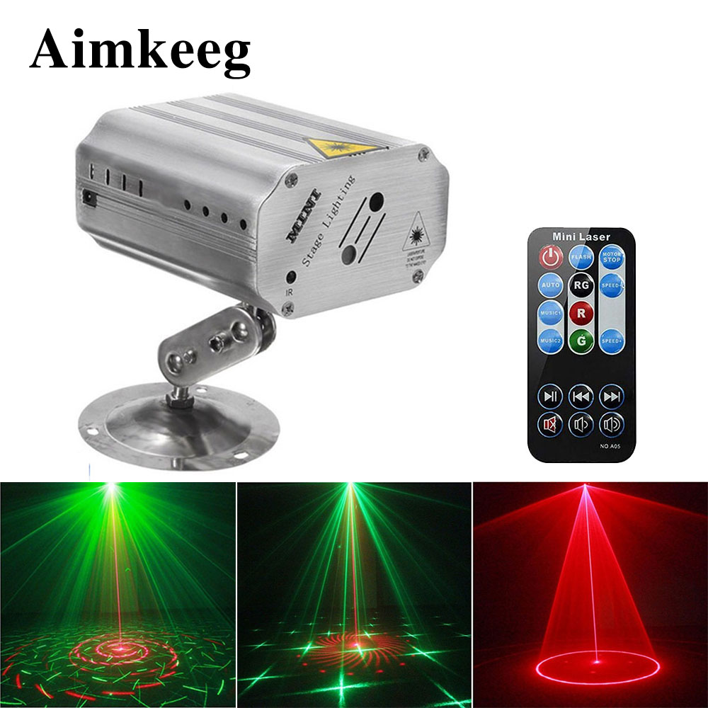 24 Patterns DJ Disco Stage Light Sound Activation Music Rhythm Flash Light Automatic Laser Projector Stage Light Effect