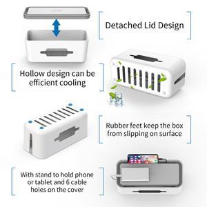 Image 3 - NTONPOWER caja de almacenamiento organizadora de cables, caja organizadora de cables de plástico con soporte, caja de gestión de regleta para el hogar y la Oficina