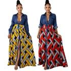 V-neck African Dress...