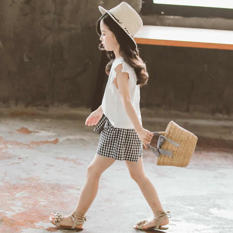 여름 키즈 아기 소녀 옷 세트 티셔츠 + 바지 2Pcs 귀여운 소녀 의류 복장 4 5 6 7 8 9 10 11 12 년