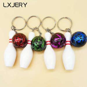 LXJERY Mini Bowling brelok sportowy breloczek dla kobiet brelok do torby wisiorek breloczek prezenty biżuteria