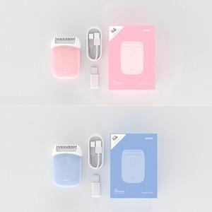 Image 5 - Smate Elektrische Epilierer Mini Tragbare Haar Entfernung Trimmer Frauen USB Aufladbare Glatte Rasierer Wasserdicht Epilierer