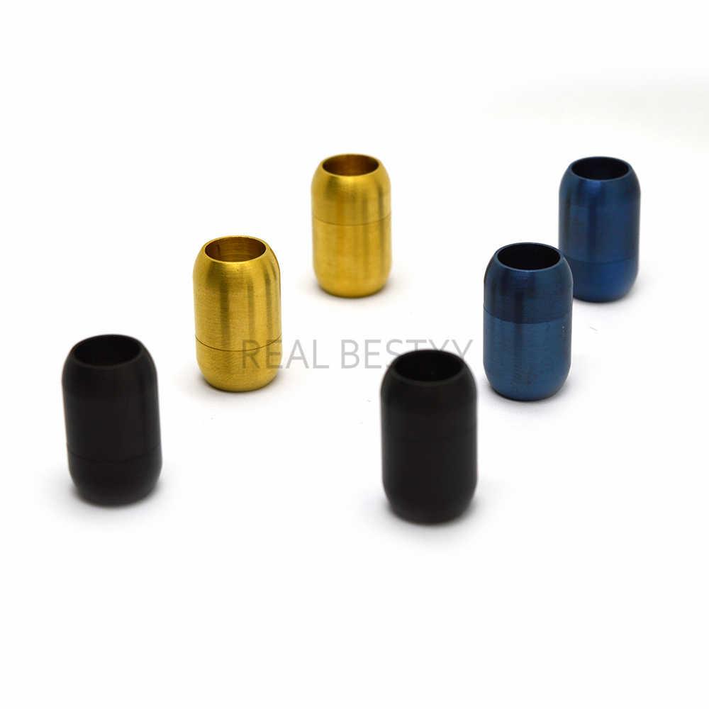 10 ชิ้น/ล็อต 6 มม.สี Clasps แม่เหล็กที่แข็งแกร่ง Fit 6mm สร้อยข้อมือสายหนัง Clasp Connectors สำหรับเครื่องประดับทำคอลัมน์ clasps