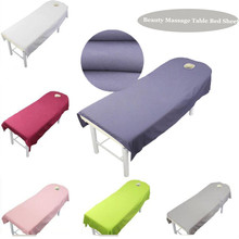 WOSTAR 100 Polyester solid beauty salon bed sheet Cover comfort Body SPA massage table cloth sheets