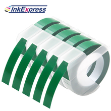 5PK 9MM 3D Embossing Tapes Plastic 3D Embossing Labels White on Green Compatible for Dymo Motex E101 E-202 1540 Label Makers azsg 2018 new arrival tree heart shaped embossing plates design diy paper cutting dies scrapbooking plastic embossing folder