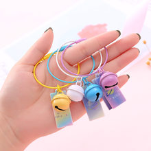 2020 Hot selling cartoon planet bell key chains cute student key ring high quality metal bag pendant car key chain(China)