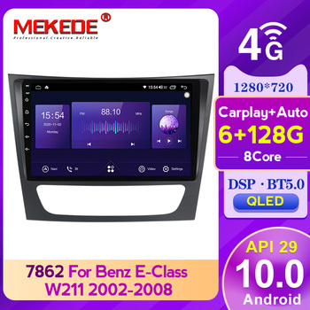 MEKEDE 6G+128G QLED 5GHz WIFI GPS Car Multimedia Player For Mercedes Benz E-class W211 E200 E220 E300 E350 E240 CLS CLASS W209 image