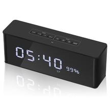 ZAPET altavoz Portátil con Bluetooth, dispositivo de sonido estéreo inalámbrico para música, con pantalla LED de tiempo, despertador