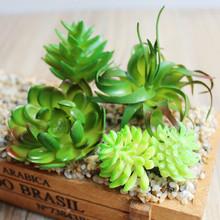 Sztuczne sukulenty rośliny pcv minitrawa sztuczne rośliny krajobraz sztuczne kwiaty dekoracje ślubne Bonsai planta sztuczne tanie tanio Wusmart 1 pc Pulpit
