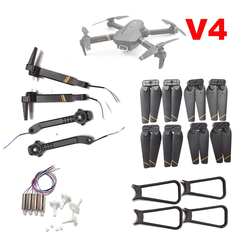Spare Parts V4 WiFi FPV RC Drone Arm blade Guards Gears Engine...for V4 RC Drone