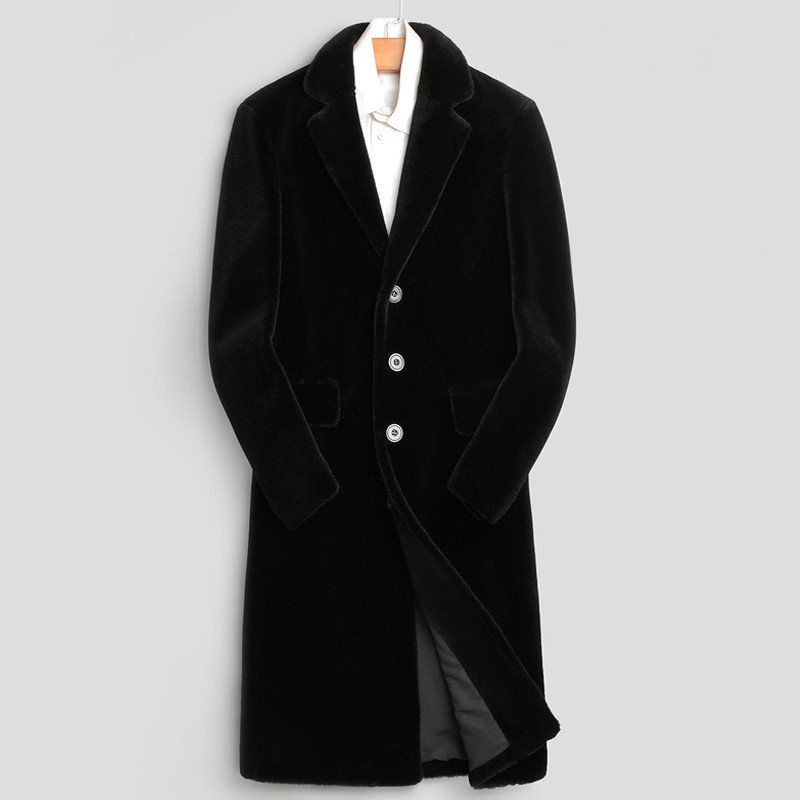 2020 Winter Real Fur Coat Women Sheep Shearing Long Wool Fur Jacket Autumn Blazer Overcoat Kurtki Zimowe Meskie 1811 KJ3782