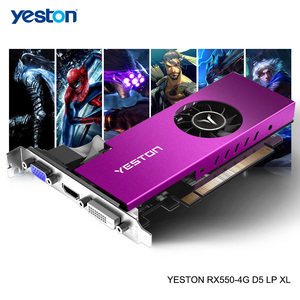 Image 1 - Yeston Radeon mini RX 550 GPU 4GB GDDR5 128bit 게임용 데스크탑 컴퓨터 PC 비디오 그래픽 카드 VGA/DVI D/HDMI PCI E 3.0 지원