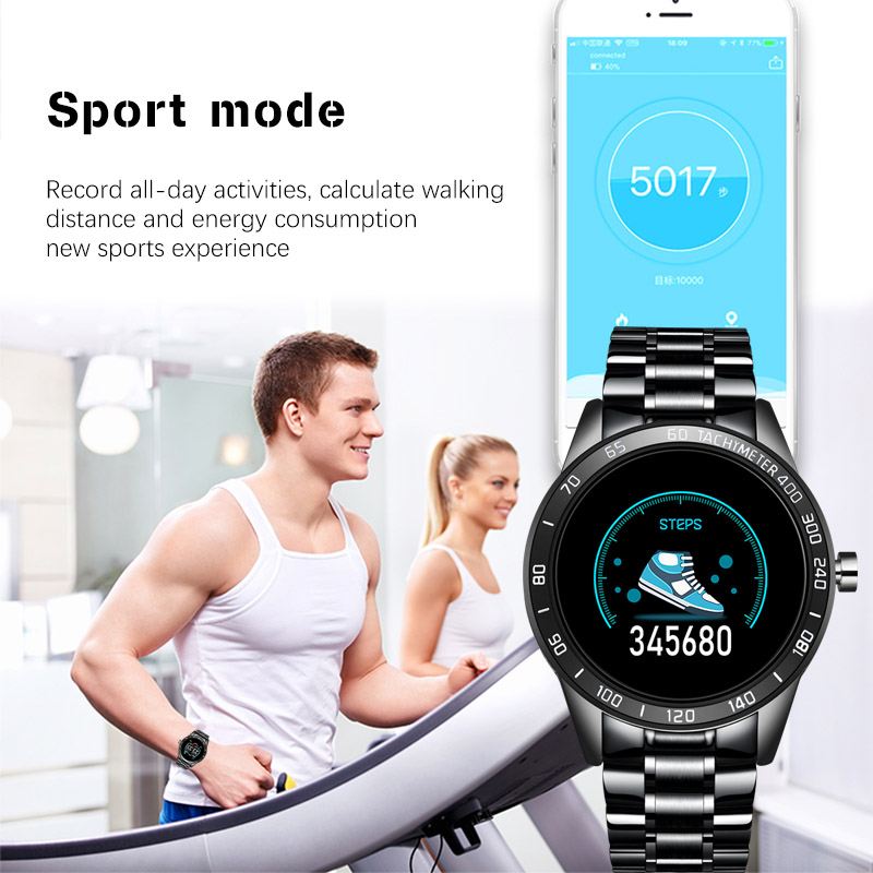 LIGE 2020 New Smart Watch Men LED Screen Heart Rate Monitor Blood Pressure Fitness tracker Sport Watch waterproof Smartwatch+Box 4