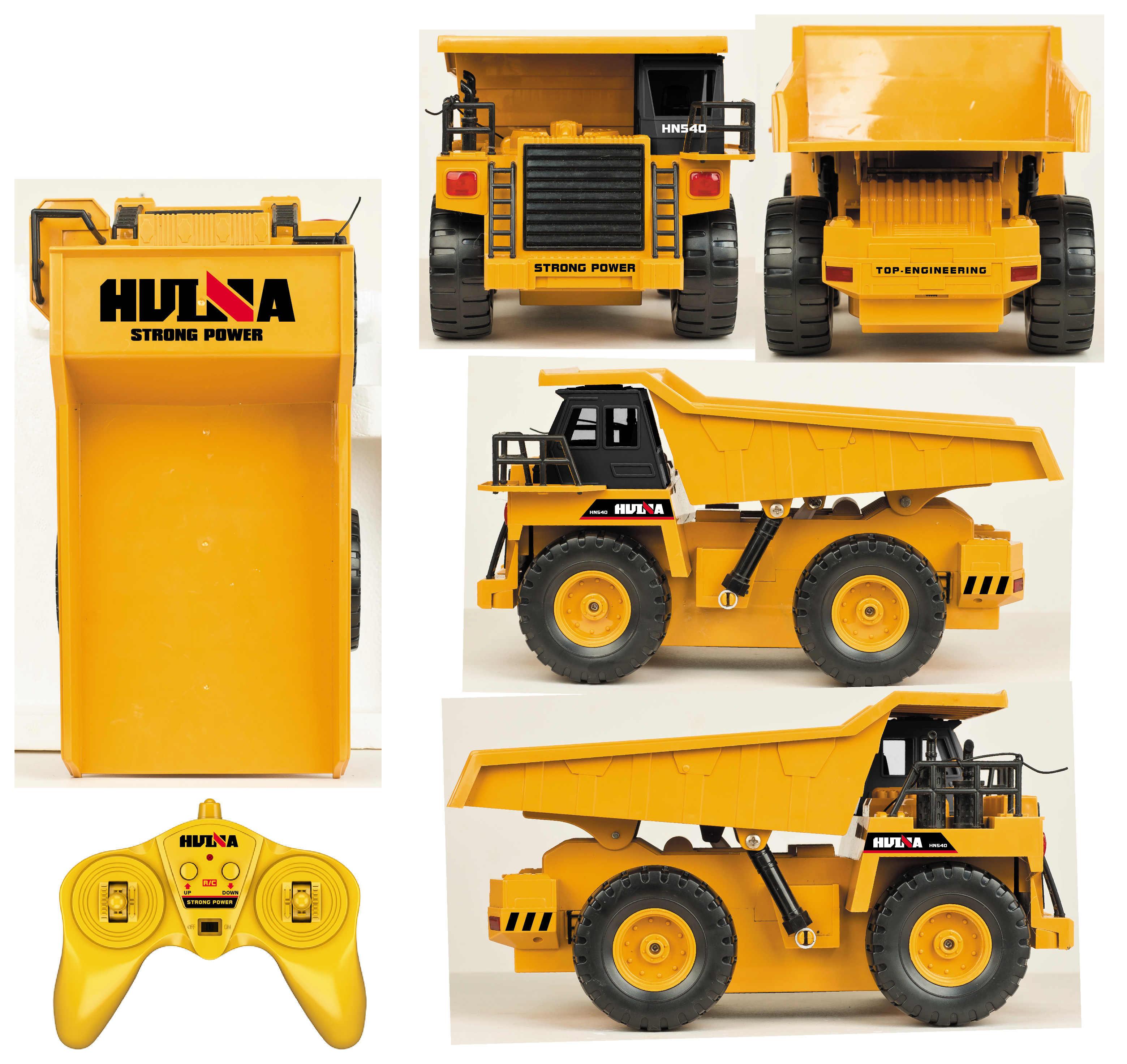 1/18 Huina 1540 Rc Dump Lkw Fernbedienung Bagger Spielzeug Legierung RC Modell Spielzeug Engineering Fahrzeug Kinder Autos