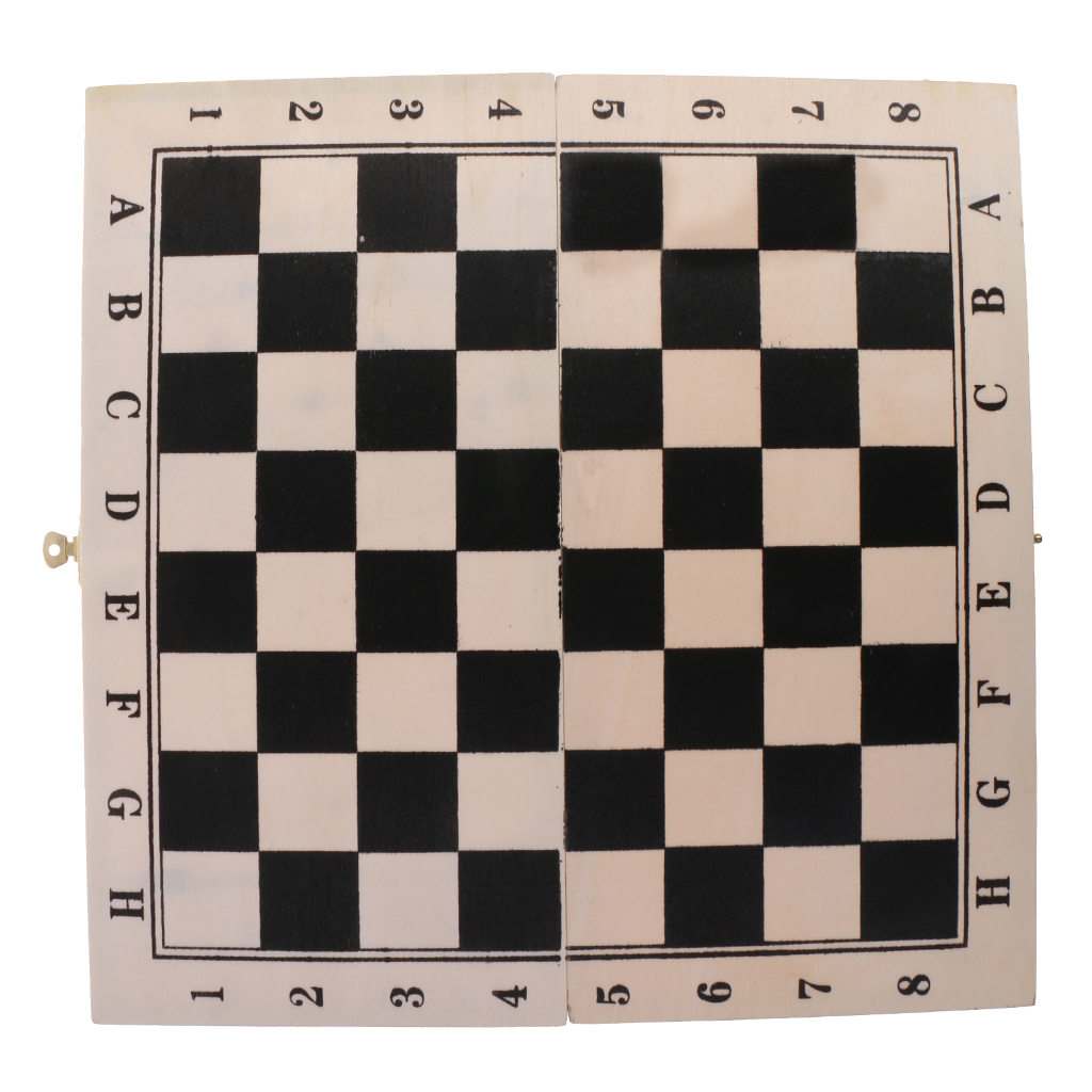 Ladies Game Chess Wooden Tray Body Folding Board Game Toy Gift Child