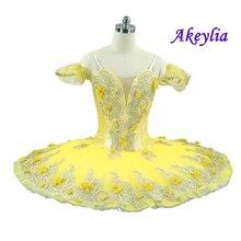 Raymonda Professional Ballet Tutu Costume Kitri Women Adult Yellow Paquita Tutus Skirt Classical Ballerina Stage