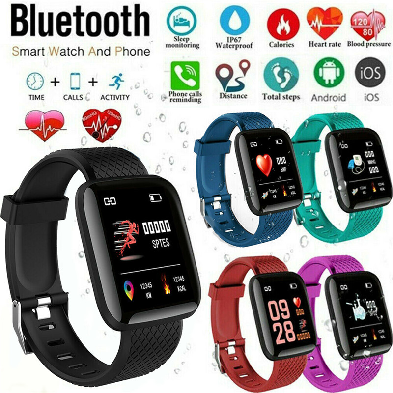 2019 New Smart <font><b>Watch</b></font> 116 PLUS Smart Bracelet D13 Heart Rate <font><b>Blood</b></font> <font><b>Pressure</b></font> Waterproof 5 Colors image