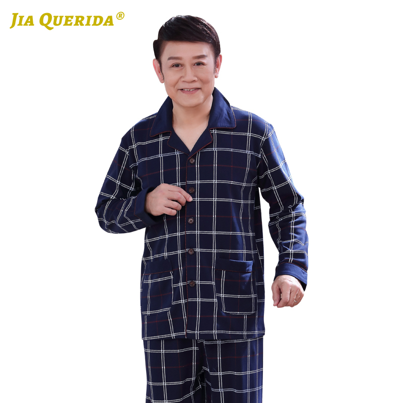 New Front Pocket Pajamas Set Homesuit Homeclothes Sleepwear Casual Style Long Sleeve Long Pants Fashion Style Turn Down Collar
