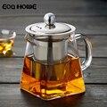 Термостойкие стеклянные чайные горшки  чайник из нержавеющей стали  фильтрующий чайник  цветочный чайник  высокотемпературный стеклянный ...